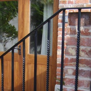 Bespoke metal railings and gates, metal handrails by Abbott Street Forge in Dorset