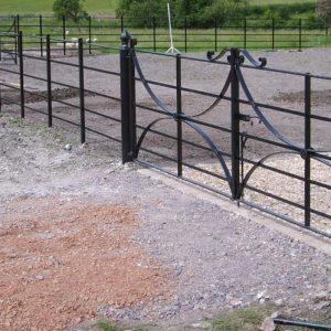 Wrought iron estate fencing in Dorset