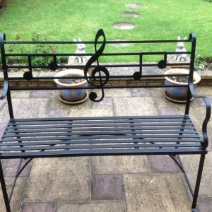 Custom made garden bench